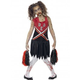 Girls Zombie Cheerleader Costume