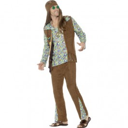 Adult 60s Hippie Costume (Fancy Dress)