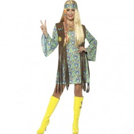 60's Hippie Chick Costume (Fancy Dress)
