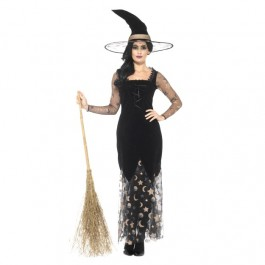 Deluxe Moon & Stars Witch Costume (Fancy Dress)