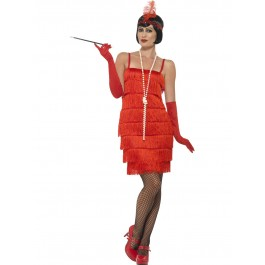 Flapper Red Short (Fancy Dress)