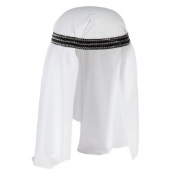 White Arab Hat Fancy Dress