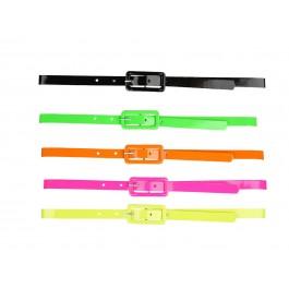 80s Neon Coloured Belt (Fancy Dress)