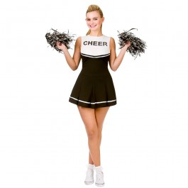 Cheerleader Black / White (Fancy Dress)