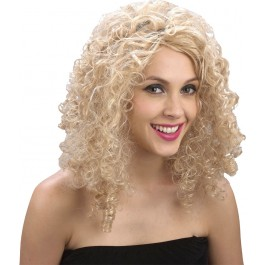 Curly Blonde Saloon Girl Wig