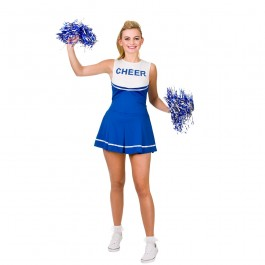 Cheerleader Royal Blue / White (Fancy Dress)