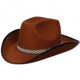 Brown Cowboy Hat Decorative Band
