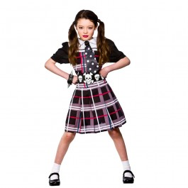 Girls Freaky Schoolgirl Fancy Dress Costume