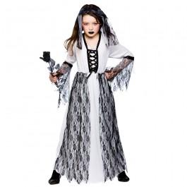 Girls Ghastly Ghost Bride Fancy Dress