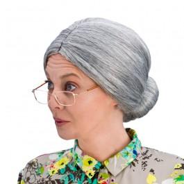 Granny Bun Wig Grey