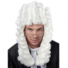 White Judge Court Wig