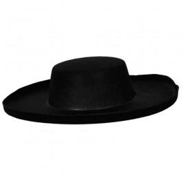 Bandit Hat Black Large Mexican Spanish Felt Adults Fancy Dress Accessory 661f7b7bb3c