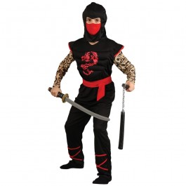 Boys Muscle Chest Ninja Warrior (Fancy Dress)