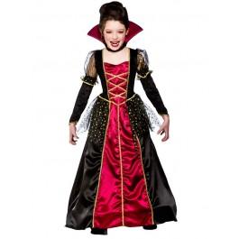Girls Princess Vampira Fancy Dress