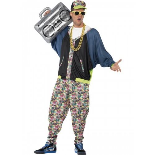 80u0027s Hip Hop Costume  sc 1 st  Kingdom Fancy Dress & Hip Hop 80s Fancy Dress Costume Rapper Rap God Outfit One Size