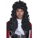 Black Curly Pirate Captain Wig