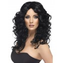 Long Black Curly Glamour Wig