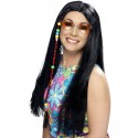 Hippie Party Wig Black