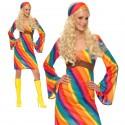 Rainbow Hippie Ladies Costume