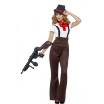 Glam Gangster Costume (Fancy Dress)