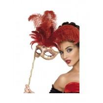 Red Fever Baroque Eyemask