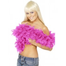 Deluxe Feather Boa - Bright Pink