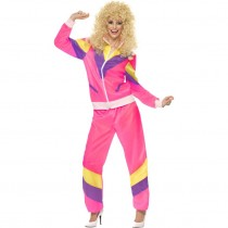 80s Pink Shell Suit