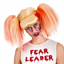 Zombie Blonde Cheerleader Wig