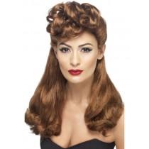 Brown 40's Vintage Wig