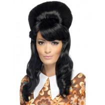 1960s Brigette Bouffant Black Wig