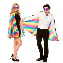 Superhero Cape and Mask - Rainbow