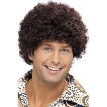 70s DUDE BROWN AFRO WIG