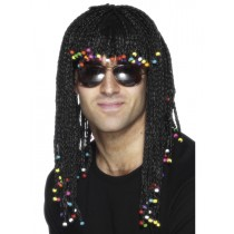 Black Jamaican Rasta Wig With Beads