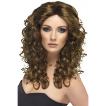Brown Curly Glamour Wig