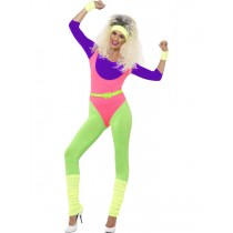 80's Work Out Costume, with Jumpsuit