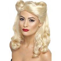 40's Pin Up Wig Blonde