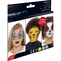 Smiffys Make Up FX, Aqua, Animals Kit