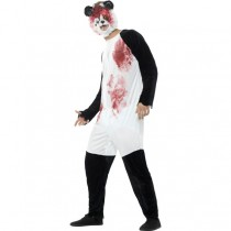 Adult Zombie Panda Costume (Fancy Dress)