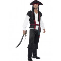 Aye Aye Pirate Captain Costume (Fancy Dress)