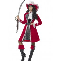 Deluxe Authentic Lady Captain Costume (Fancy Dress)  Images