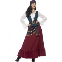 Deluxe Pirate Buccaneer Beauty Costume (Fancy Dress)