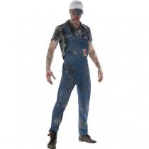 Zombie Hillbilly Costume, Male (Fancy Dress)