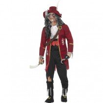 Deluxe Zombie Pirate Captain Costume (Fancy Dress)