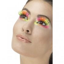 80's Neon Party Eyelashes