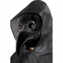 Authentic Plague Doctor Mask Black