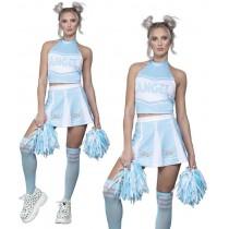 Fever Angel Cheerleader Costume, Blue