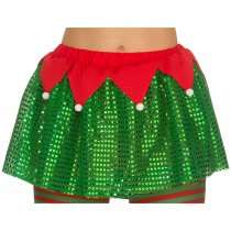 Deluxe Green Red Elf Tutu