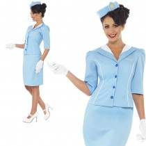 Blue Air Hostess Costume
