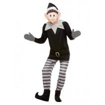 Elves Behavin' Badly Bad Elf Costume, Grey & Black