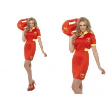 Baywatch Beach Lifeguard Costume (Fancy Dress)